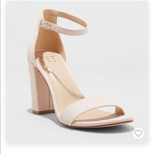 A NEW DAY Ema Blush Light Pink Suede Classic Heels